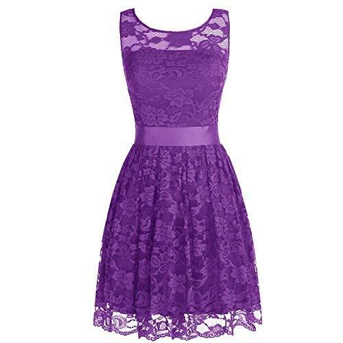 Lace Short Simple Prom Dress Corset Homecoming Evening Gown Plus Size Purple US